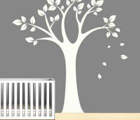 simple tree leaf falling leaves home Art Decals Wall Sticker Vinyl Wall Decal stickers living room bed baby room B634