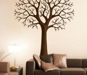 simple Winter Style tree without leaf leaves fashion home Art Decals Wall Sticker Vinyl Wall Decal stickers living room bed baby room B635